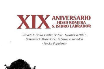 XIX Aniversario Hermandad