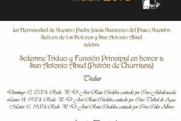 Actos en honor de San Antonio Abad