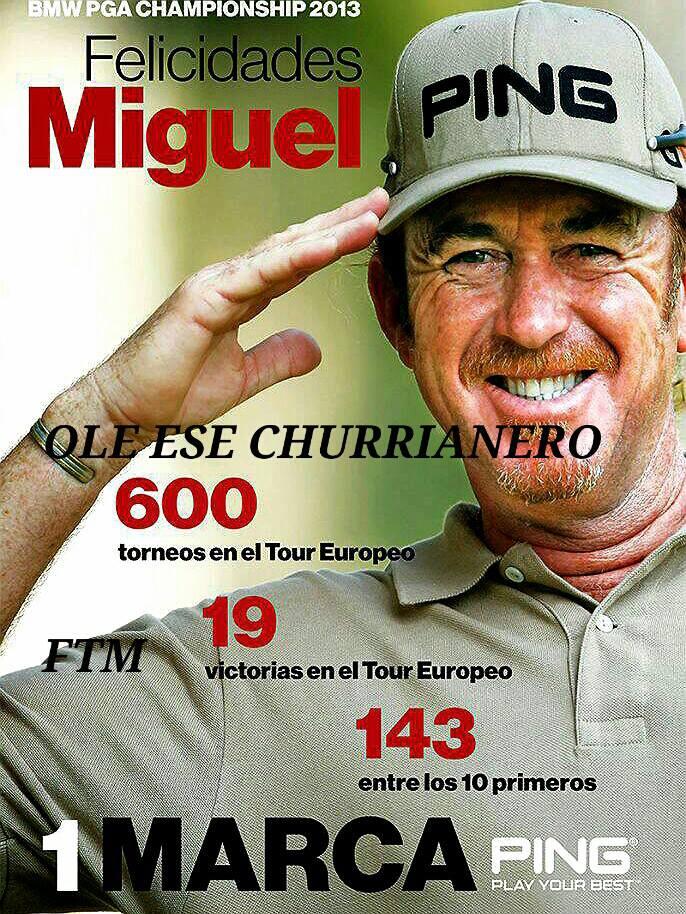 Felicidades Miguel Ángel Jiménez