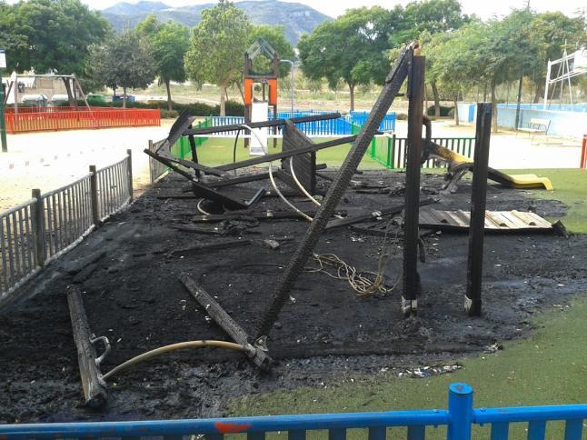 parque quemado en La Noria