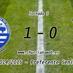Primera derrota de la temporada para el CD Churriana