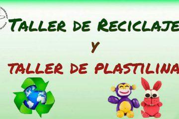 taller reciclaje y plastilina casa de la cultura Churriana