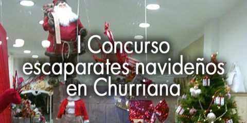 escaparates navideños en Churriana