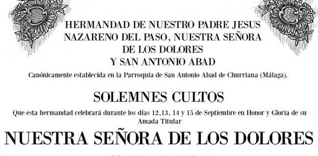solemnes cultos churriana