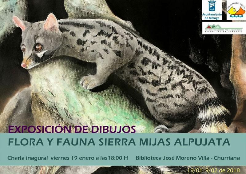 cartel exposicion flora y fauna