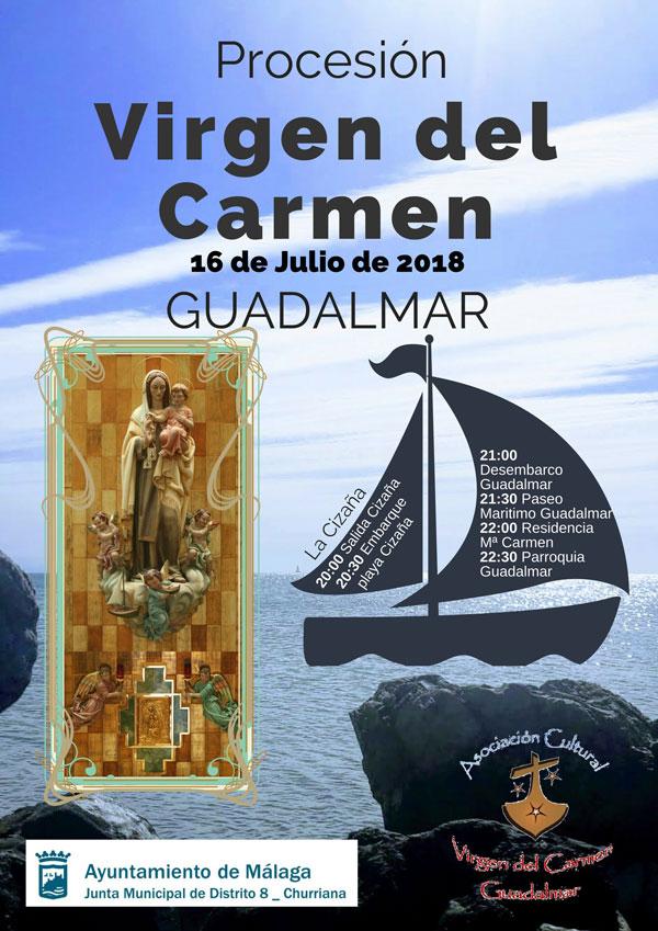 cartel procesión virgen del carmen en Guadalmar