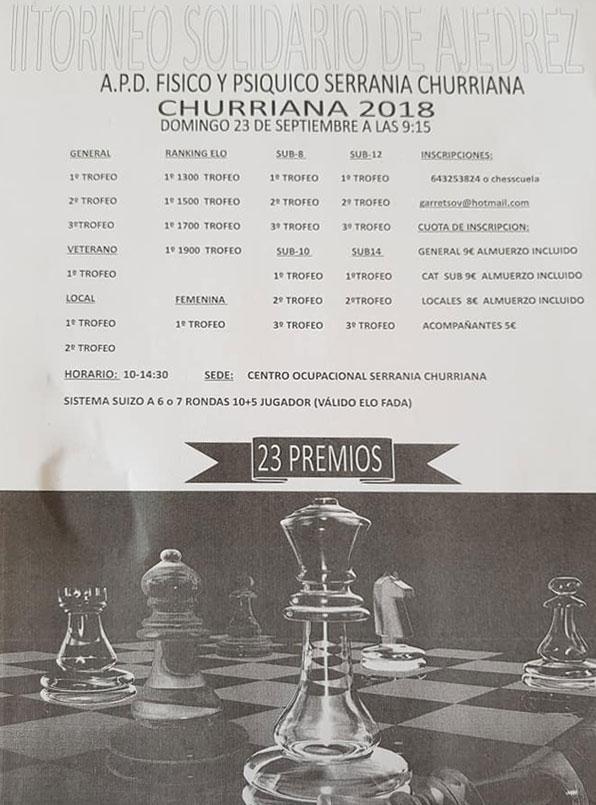 torneo ajedrez solidario churriana