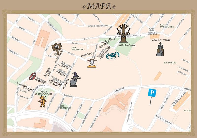 mapa noche de terror churriana