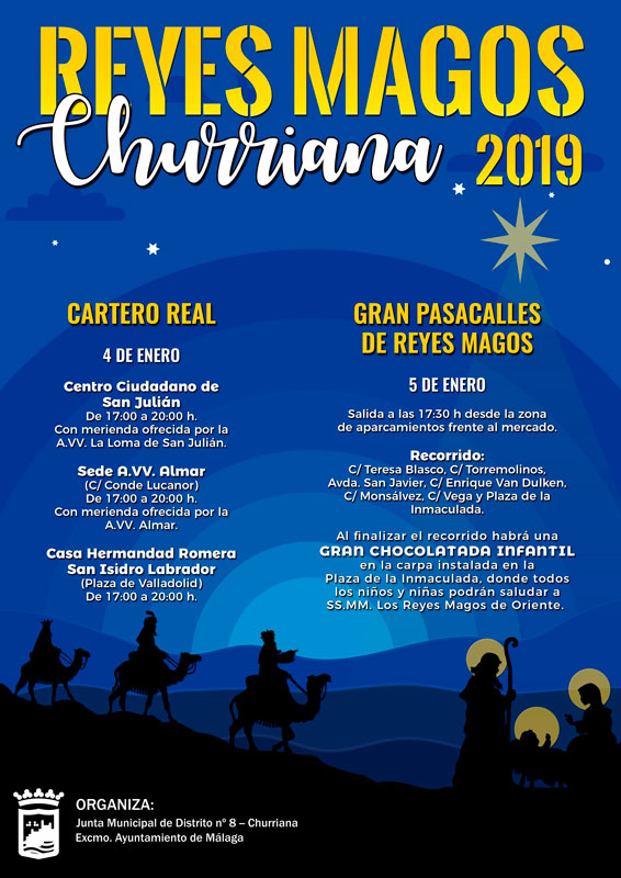 reyes magos en churriana 2019
