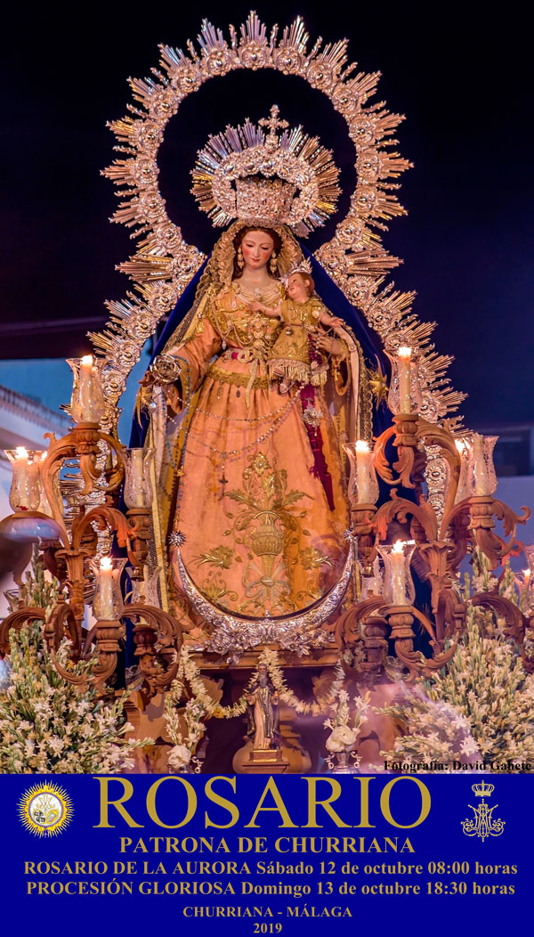 virgen del rosario churriana 2019 cartel