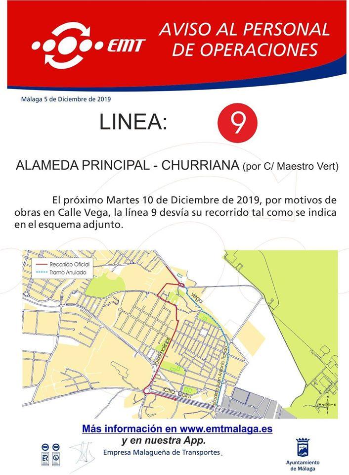 linea9 modificación