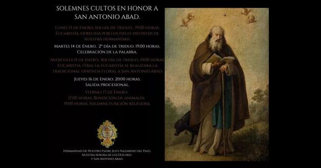 solemnes cultos san antonio abad